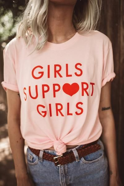 Girls Support Girls Tee - Pink – Daisy Natives 653bfb9bb3e2