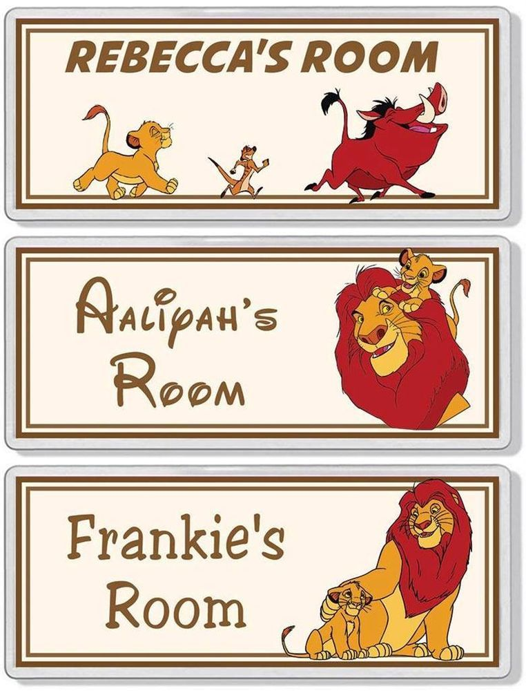 The Lion King Personalised Bedroom Door Plaque / Sign *ANY NAME