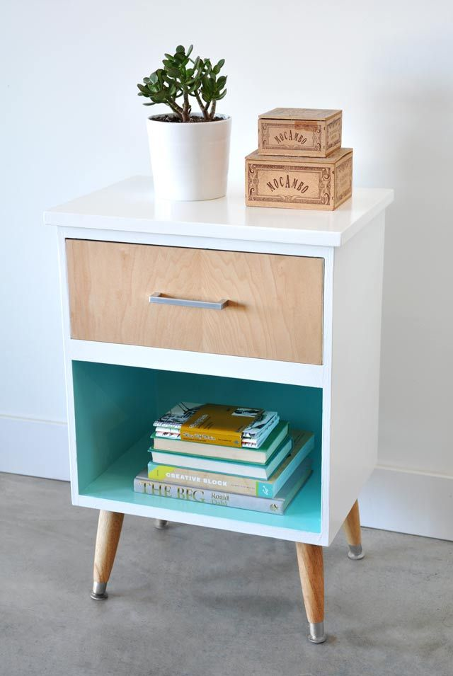Awesome Vintage Nightstands Part - 4: Before U0026 After: A Frumpy Craigslist Find Gets Fab