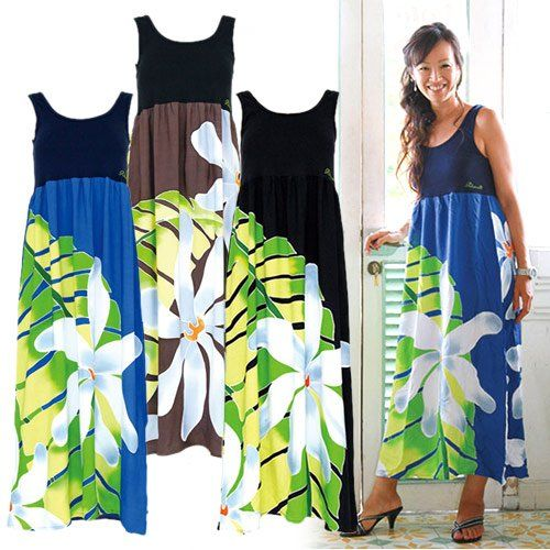 amazon co jp pukana ハワイアンリゾートファッション タンクトップドレス ワンピース puop1416 イエロー 服 ファッション小物通販 ワンピース ドレス ファッション ドレス