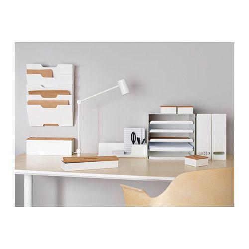 Ikea Kvissle White Wall Magazine Rack Letter Tray Desk