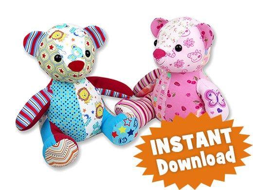 Melody Bear Keepsake Toy Bear Pattern   Sewing: Stuffies   Pinterest ...