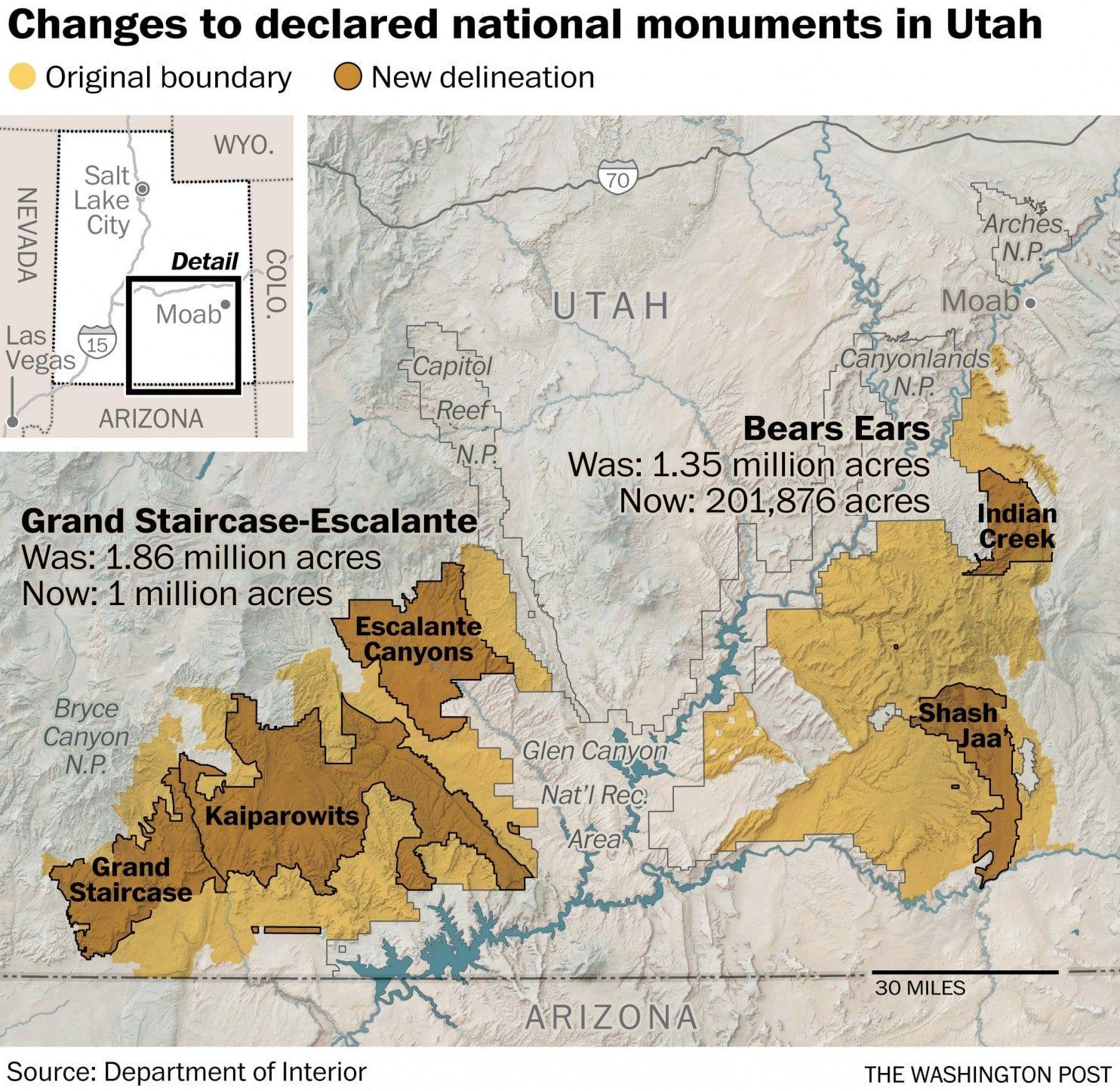 Trump Shrinks Two Huge National Monuments In Utah Drawing Praise