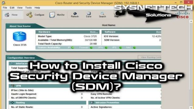 How to Install Cisco Security Device Manager in GNS3 | Cisco