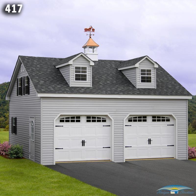 24x24 Home Addition: 24x24 2 Car 2 Story Dormer Garage
