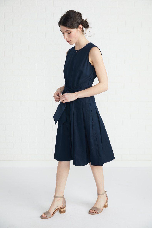 146bc9f7bf79f2 Hedi Dress (Navy) – Dresses – Amour Vert $118 | Work Dresses in 2019 ...