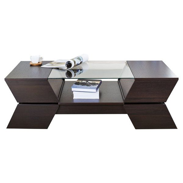 Wallington Abstract Coffee Table With Storage Coffee Table