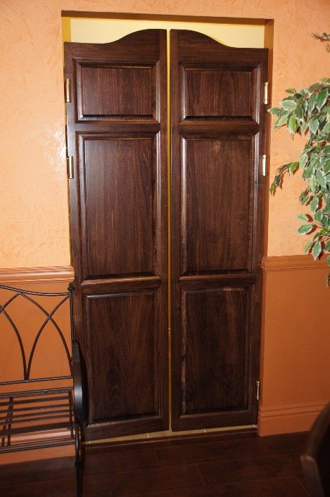 Colonial Full Length Swinging Cafe Doors | Interior Doors ...