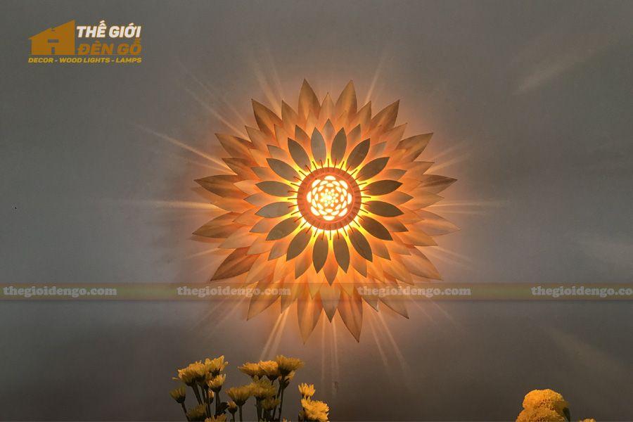 Đèn gỗ trang trí hoa hướng dương   Trang trí, Hoa, Hoa ...