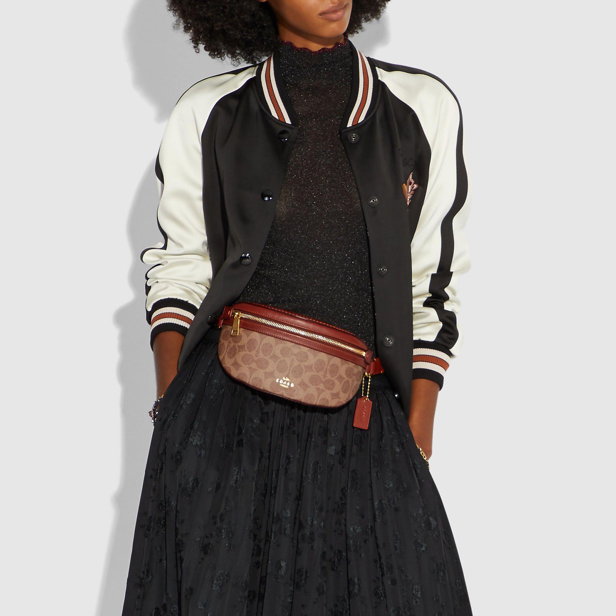 COACH Belt Bag In Signature Coated Canvas - Women s e45eadcc0af80