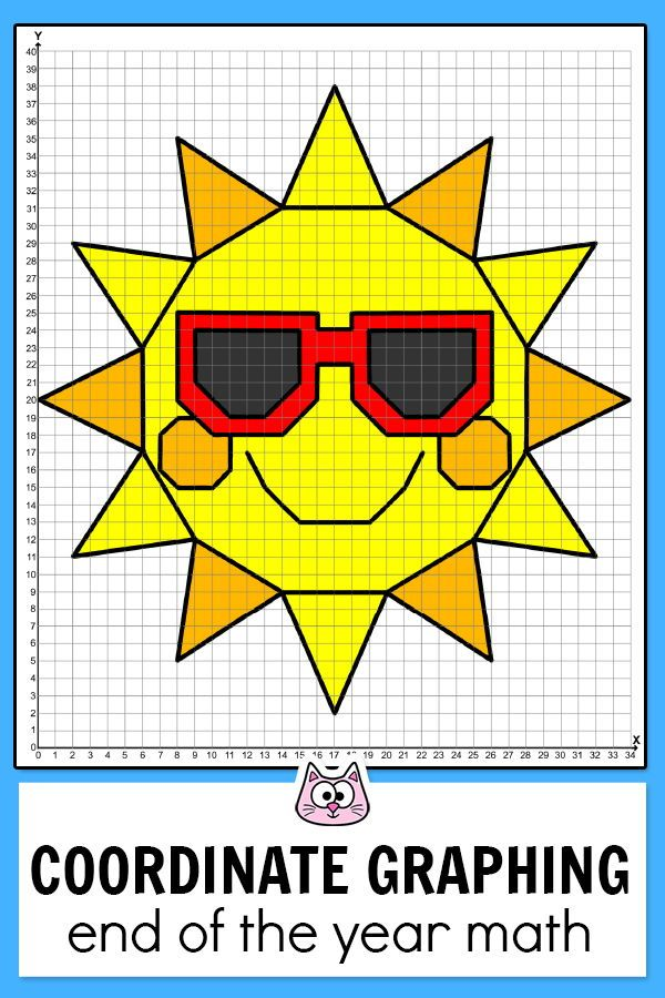 Summer Coordinate Graphing Pictures Coordinate Plane End