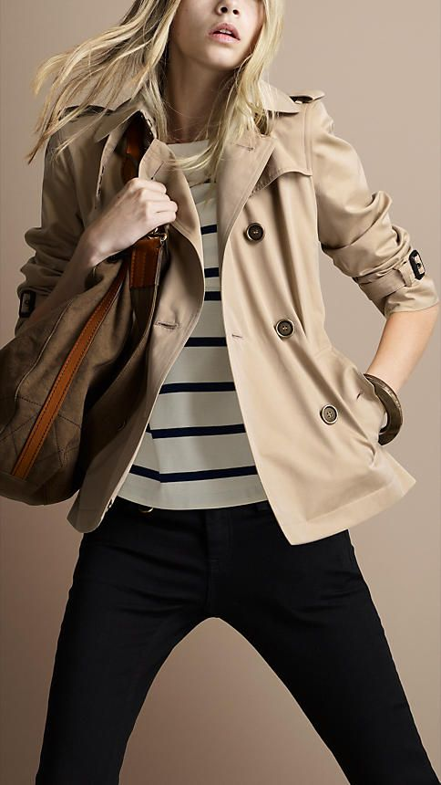 c51bb9e718d CROPPED GABARDINE TRENCH COAT   Style Wants   Burberry jacket ...