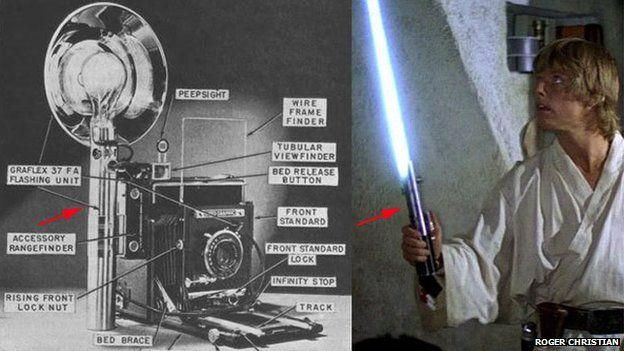 The Dark Side And The Lightsaber Star Wars Light Saber Lightsaber Old Camera