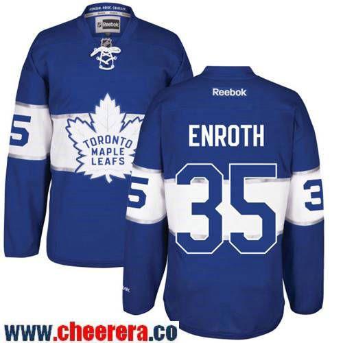 Men s Toronto Maple Leafs  35 Jhonas Enroth Blue 2017 Centennial Classic Stitched  NHL Reebok Hockey b5c00b04a