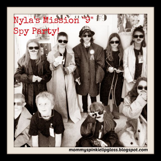 Mommys Pinkie Lipgloss: SPY 9 SECRET AGENT KIDS PARTY!...
