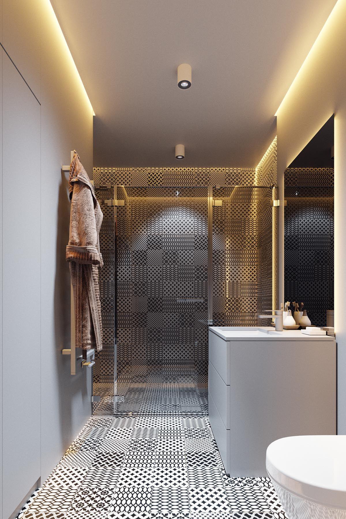 Badezimmer fliesen design von kajaria dark grey home decor with warm led lighting  home ideas  pinterest