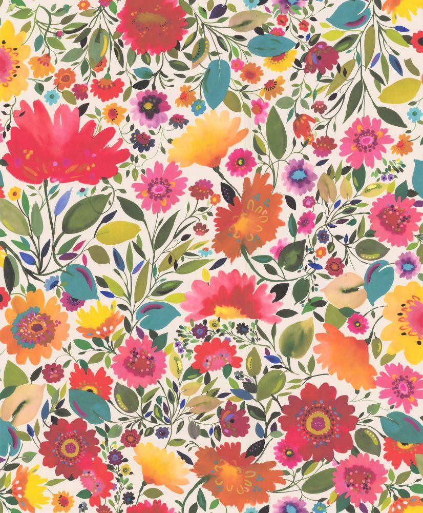 Ariadnes Dream Multi Coloured Wallpaper By Clarke