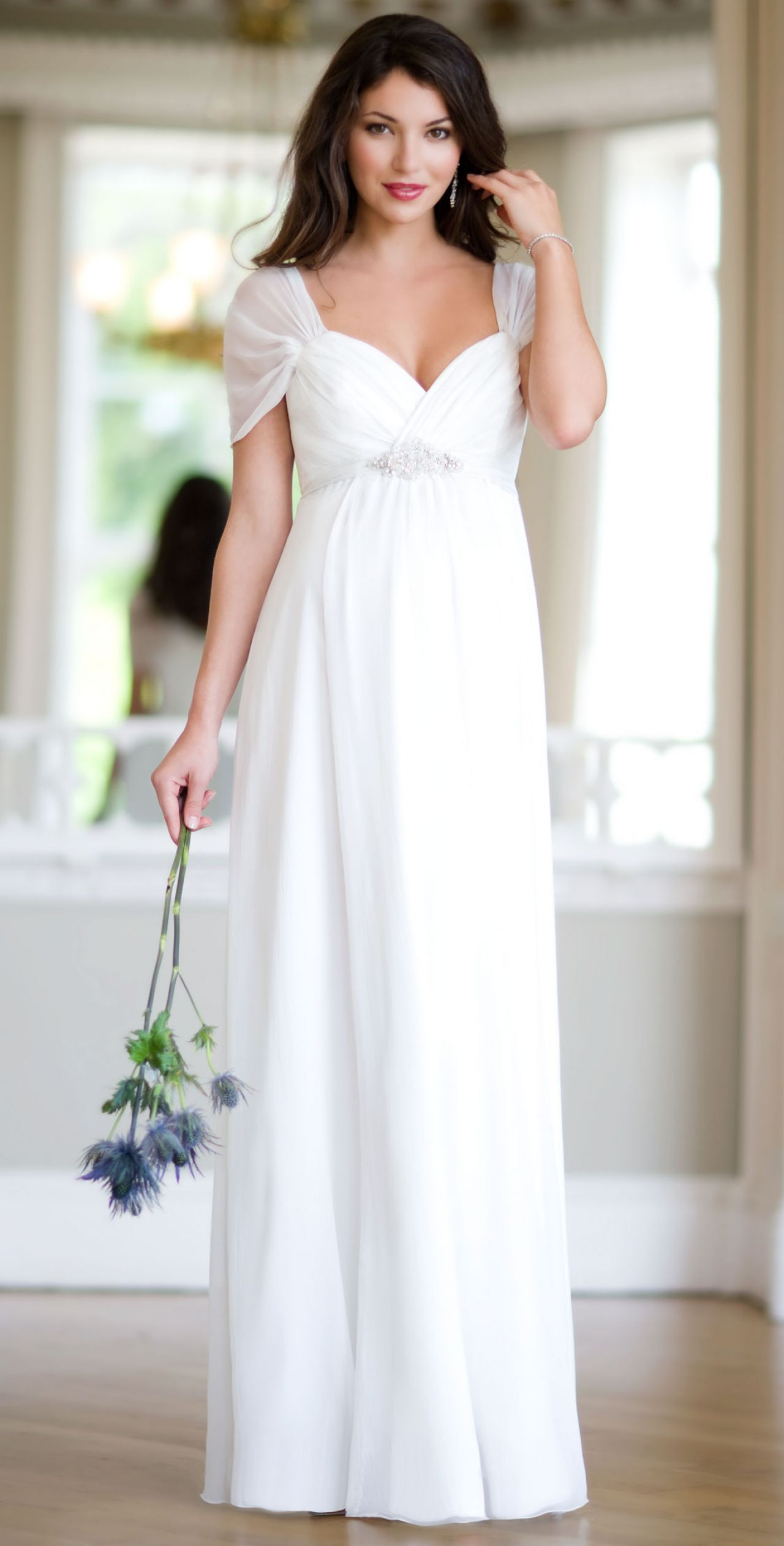 f3d617abf61a Silk Sophia Maternity Wedding Gown Ivory by Tiffany Rose | Maternity ...