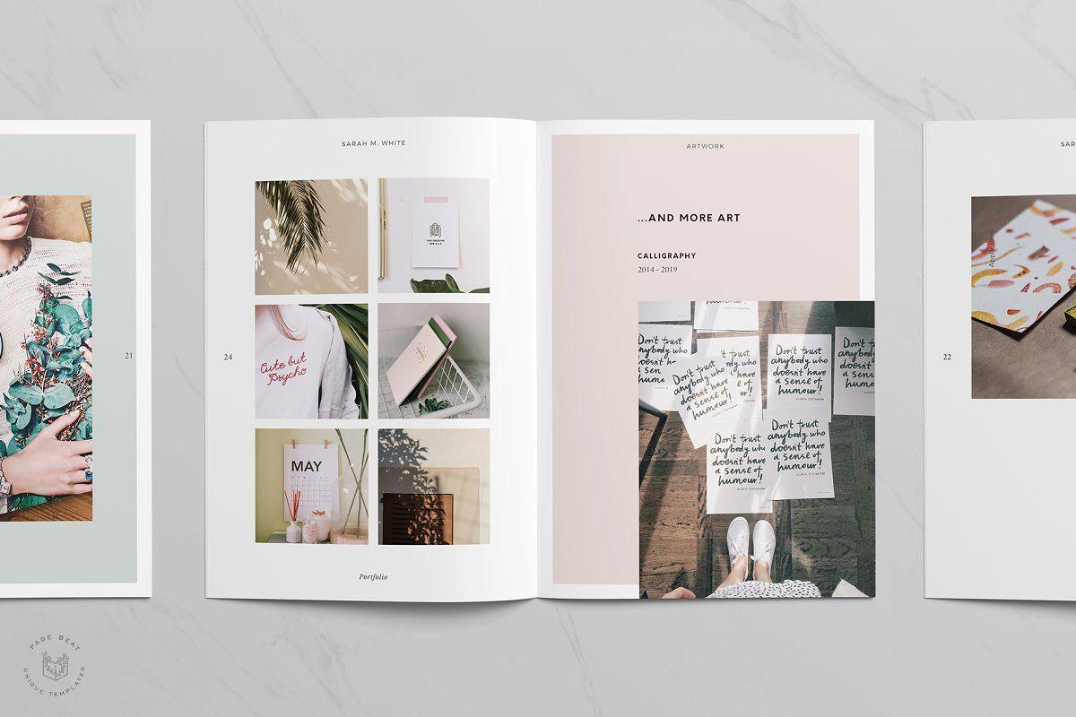 A5 craft artist portfolio resume