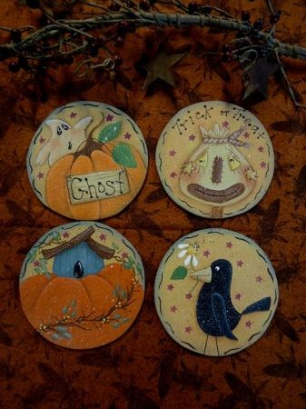 "#4060 4"" Fall Ornaments"