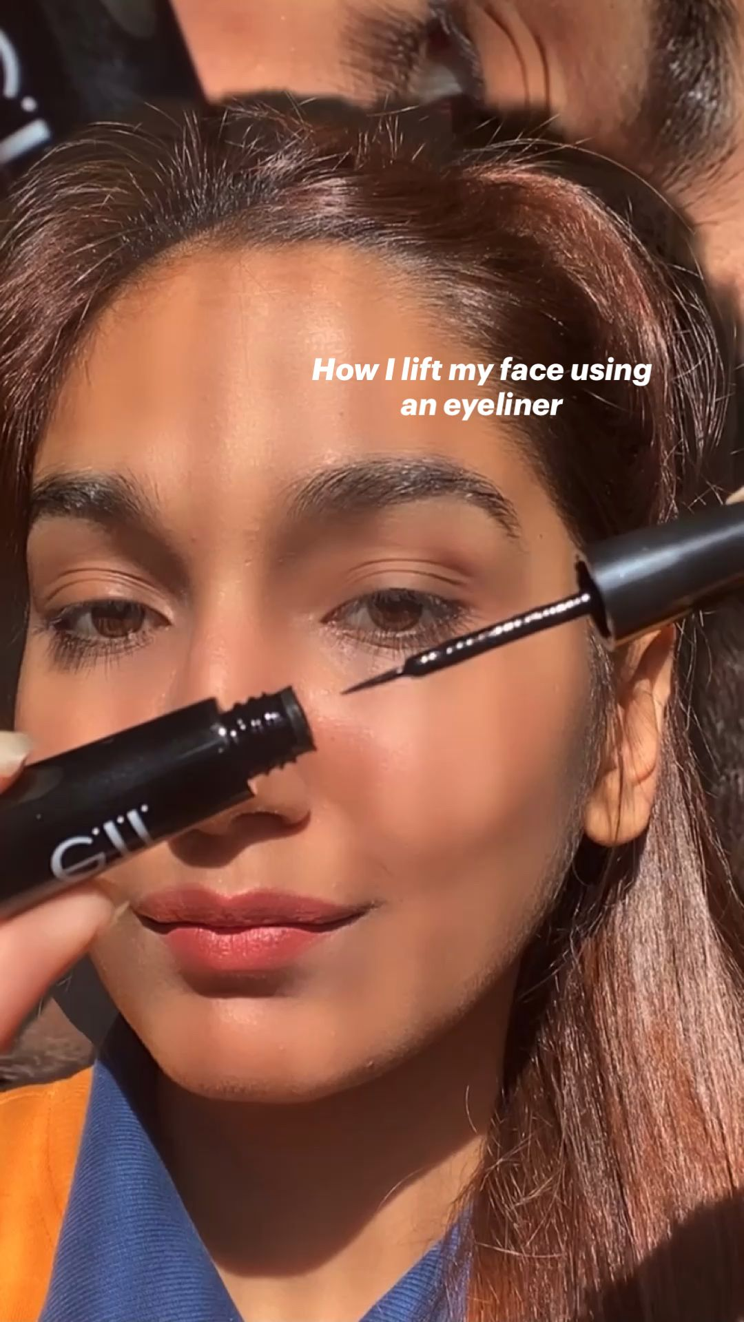 How I lift my face using  an eyeliner