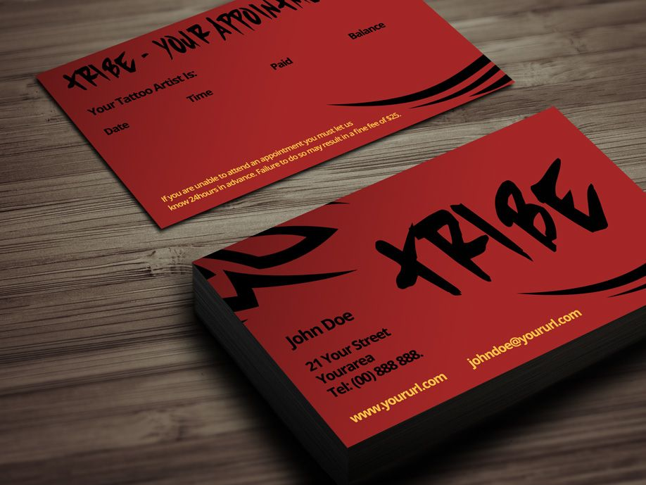 Tribe is a free tattoo business card template with a laid back look tribe is a free tattoo business card template with a laid back look great wajeb Choice Image
