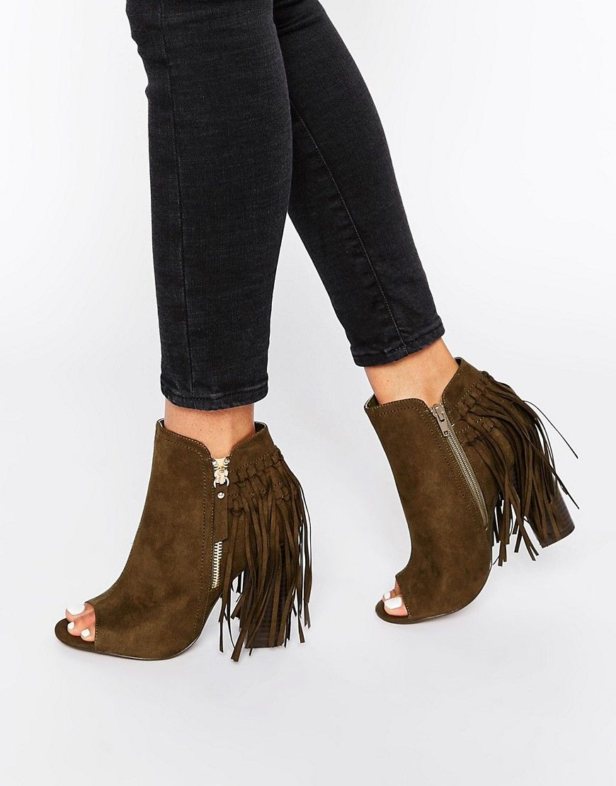 Western Heeled Ankle Boots - Black Truffle PZQ0kmeYLs