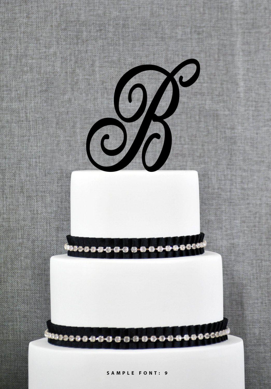 Personalized Monogram Wedding Cake Topper Letter B Cake Topper ...