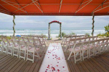 Oceanfront Deck Melbourne Beach Hilton Wedding Venues Beach