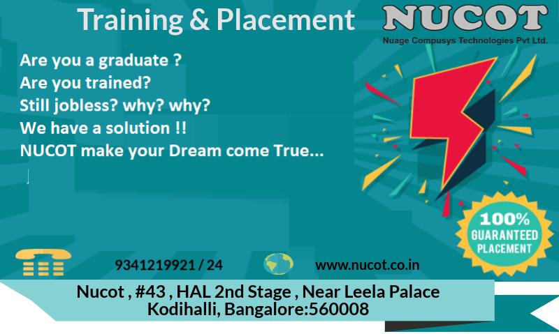 Best Training Institute In Bangalore With 100 Job Guarantee Courses Nucot Job Training Job Placement Train