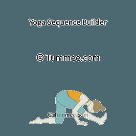 Half Splits Pose Ardha Hanumanasana Preparatory Poses Tummee Com Basic Yoga Poses Yoga Sequence For Beginners Yoga Sequences