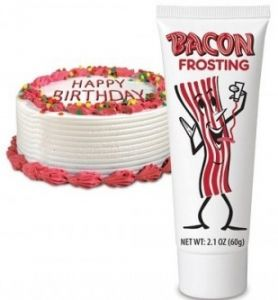 Bacon Frosting _ OMG, so going to try this on a cake for a friend that LOVES BACON!