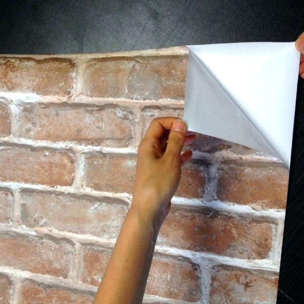 peel and stick brick wallpaper brick effect sticky back