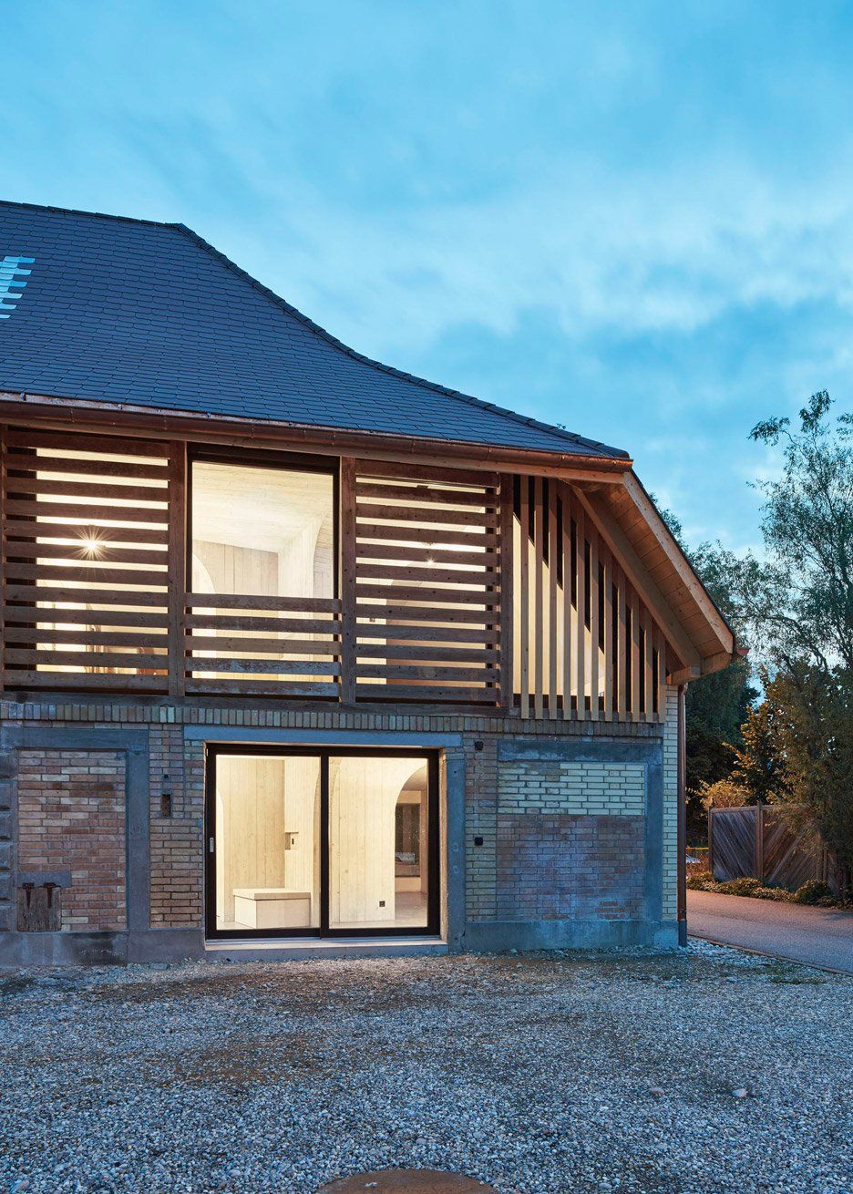 Freiluft Barn Conversion By Martin Klopfenstein Stone Shed In 2019 Rustic Houses Exterior Barn Renovation Barn