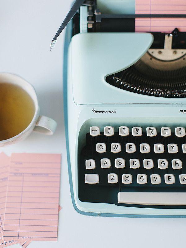 vintage mint typewriter