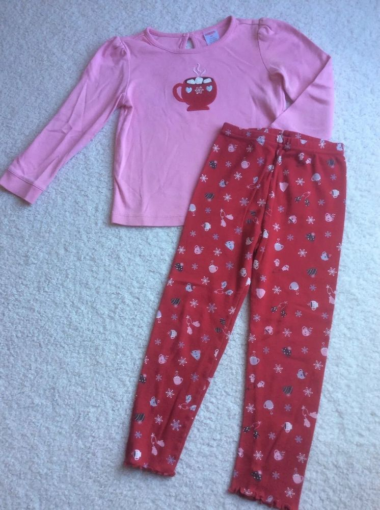 3bacae919134f Gymboree Winter Snowflake Outfit Pink Hot Cocoa Chocolate Shirt Red  Leggings 4T #fashion #clothing #shoes #accessories #babytoddlerclothing ...