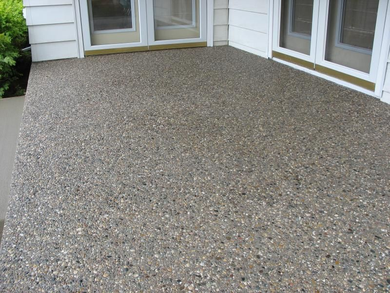 exposed aggregate concrete patio cincinnati ohio landscaping