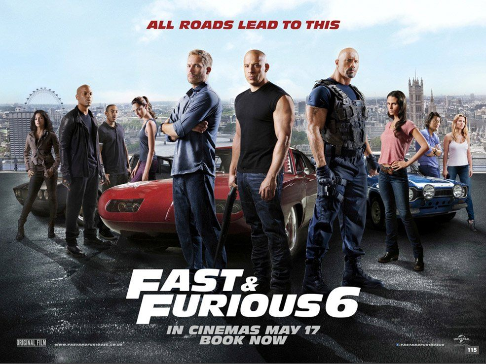 New Fast And Furious 6 Poster Fast And Furious Furious Movie Fast And Furious Cast