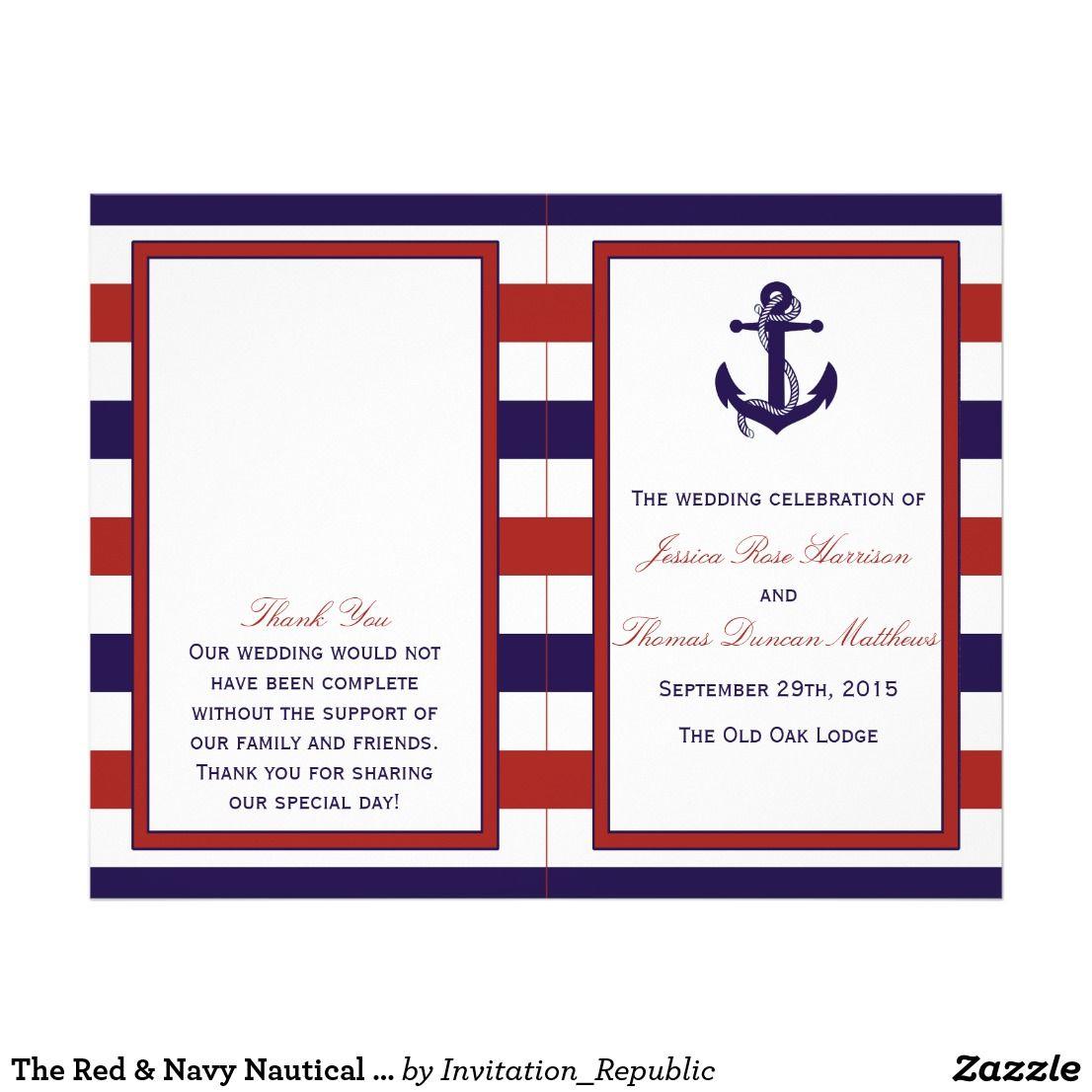 The Red & Navy Nautical Anchor Wedding Collection | { Wedding ...
