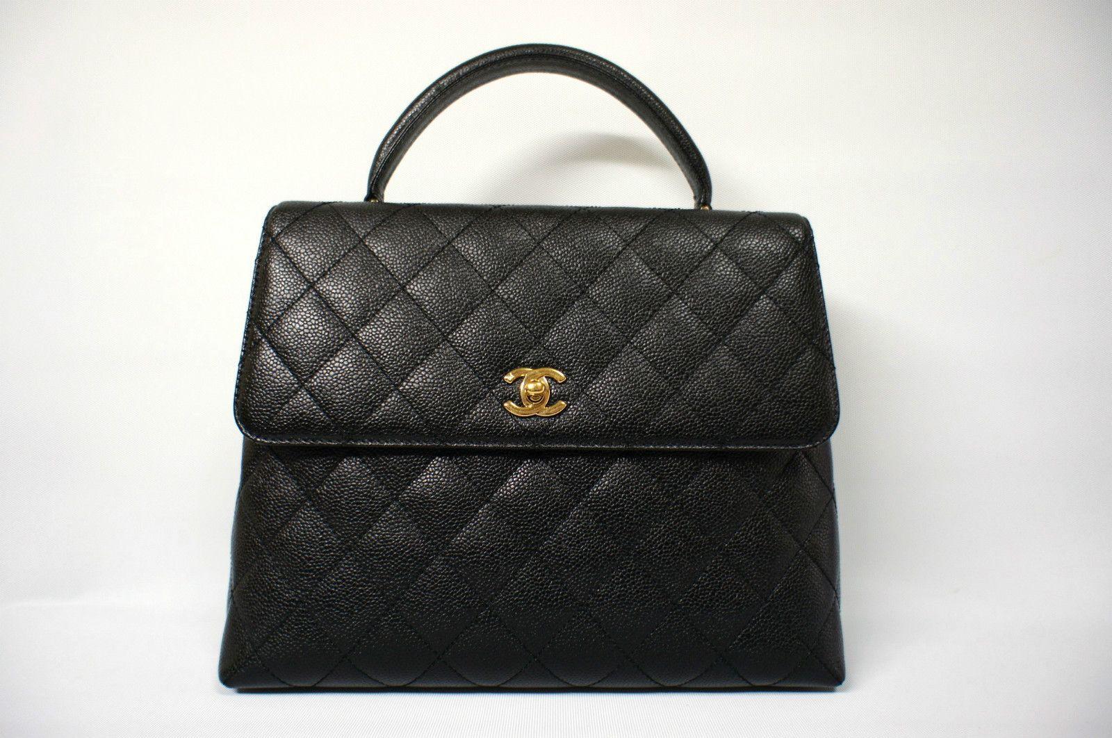 Chanel Caviar Leather Kelly Tote Executive Handbag.
