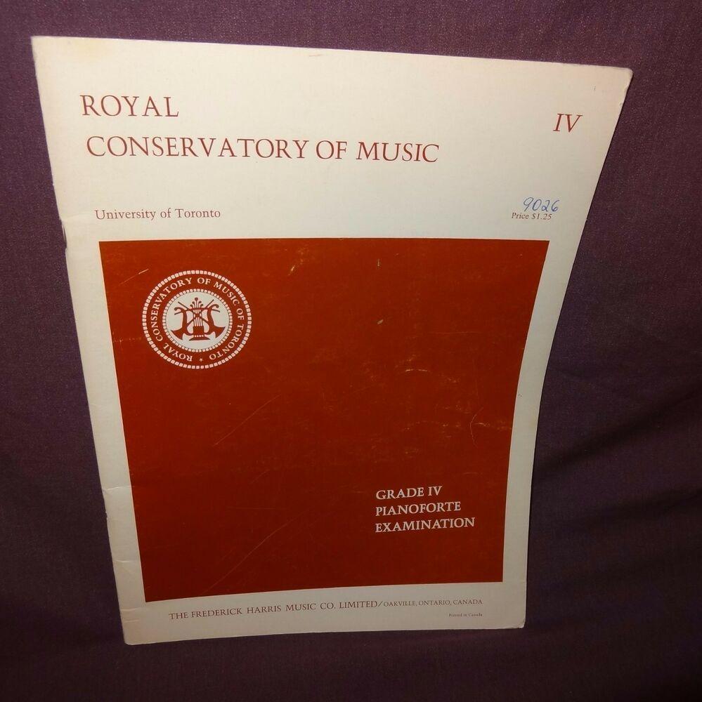 Royal Conservatory of Music Piano Sheet Music Grade 4 1966 Frederick Harris #vintagesheetmusic Royal Conservatory of Music Piano Sheet Music Grade 4 1966 Frederick Harris #vintagesheetmusic
