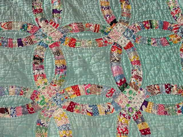 double wedding ring quilt wedding ring quilt quilt 3662