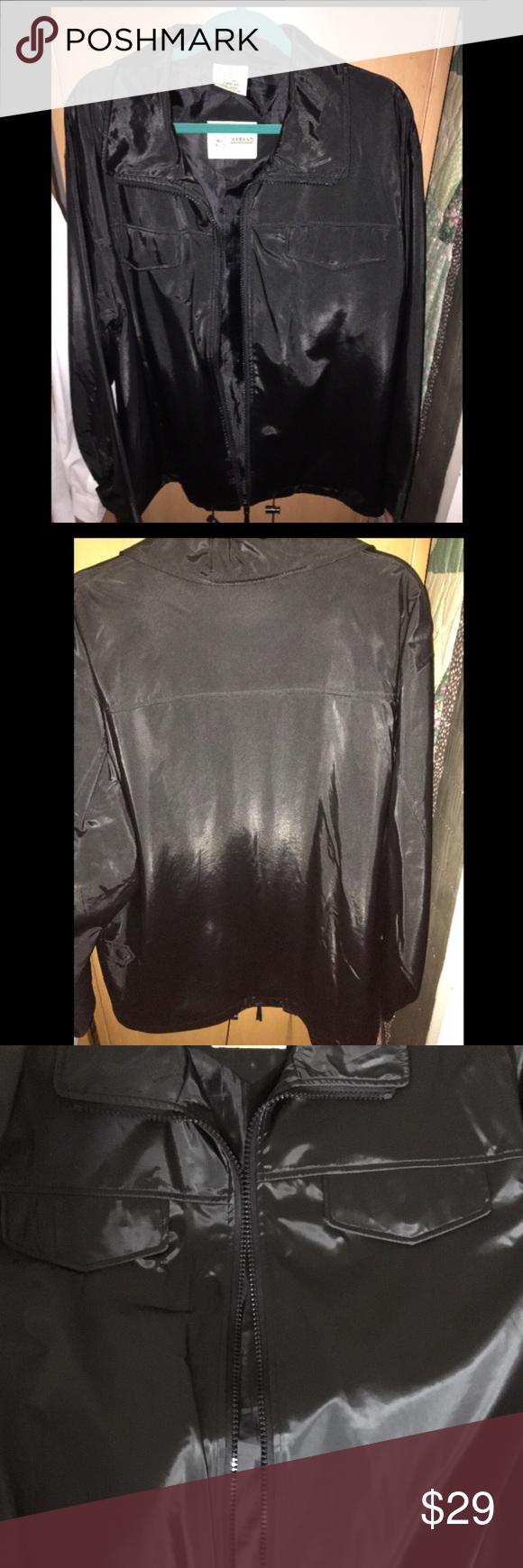 Men's Haband Black jacket Euc. Like new pockets