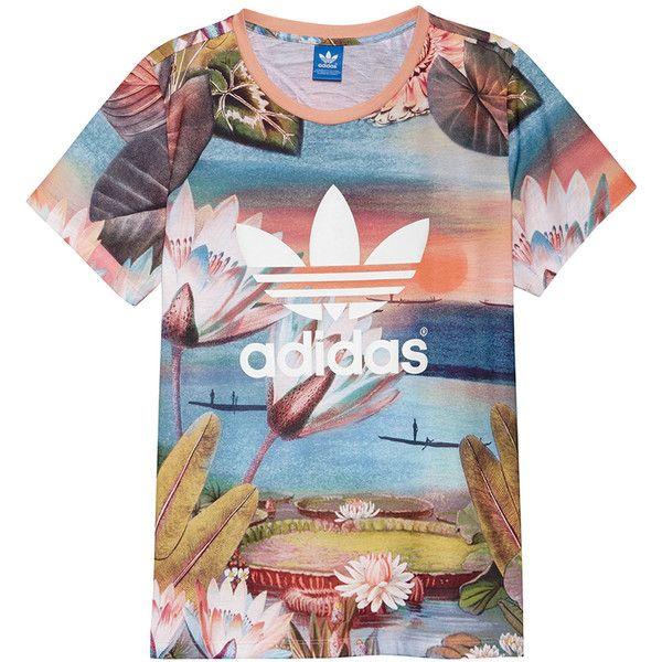 adidas maglietta (w) con polyvore, moda, abbigliamento, al massimo, t