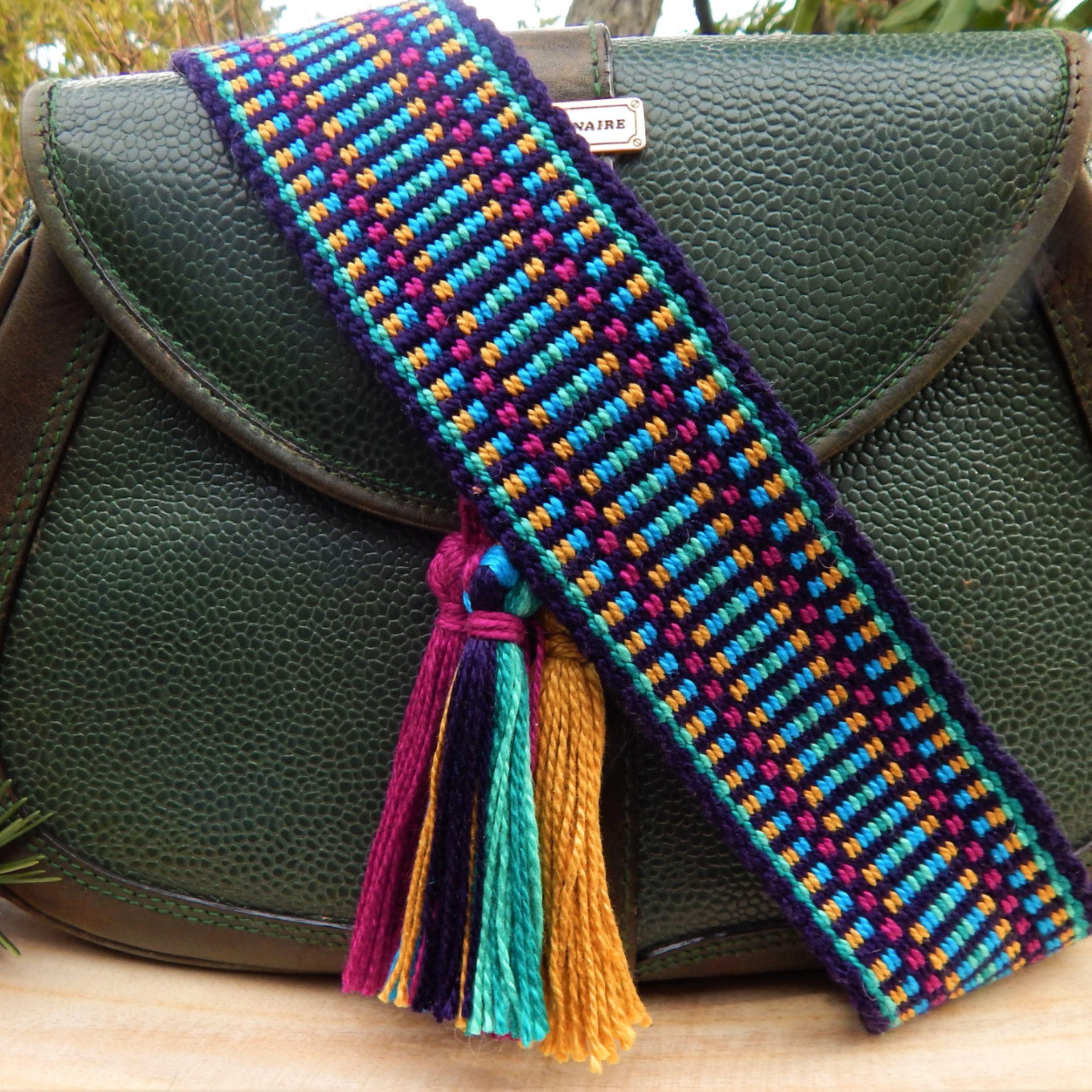 Handwoven Strap. Straps for handbags Handbag Straps Guitar strap Purse Strap Handmade bag straps Guitar Strap