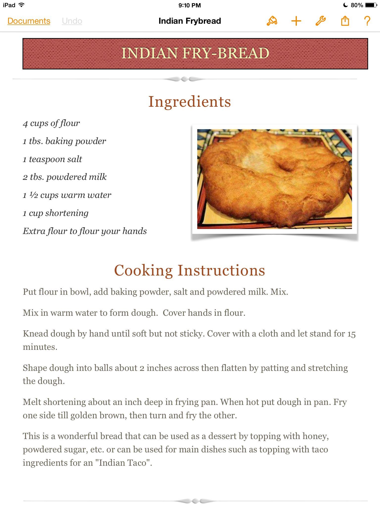Indian Fry-Bread | Recipes, Food, Fry bread