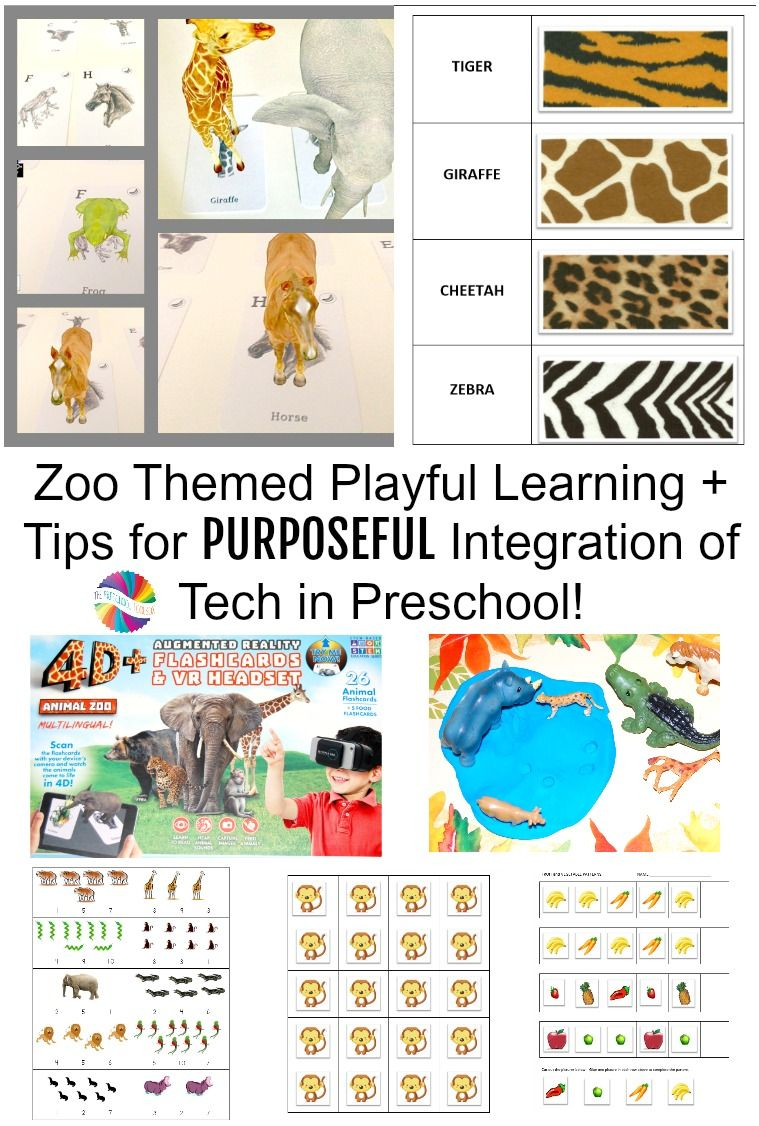 Zoo Animals Theme Intentional Tech In Preschool With Utopia 360