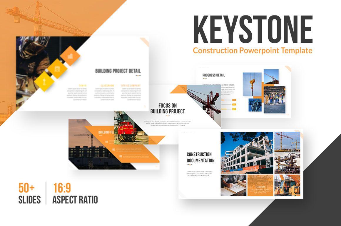 Keystone Construction Powerpoint Template 75311