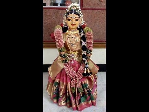 Saree Drapping for Goddess VaraMahaLakshmi's Idol