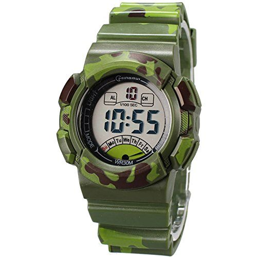 Dubein Sport Digital Quartz Boys Watches for Kids Stopwatches * Click image to review more details.